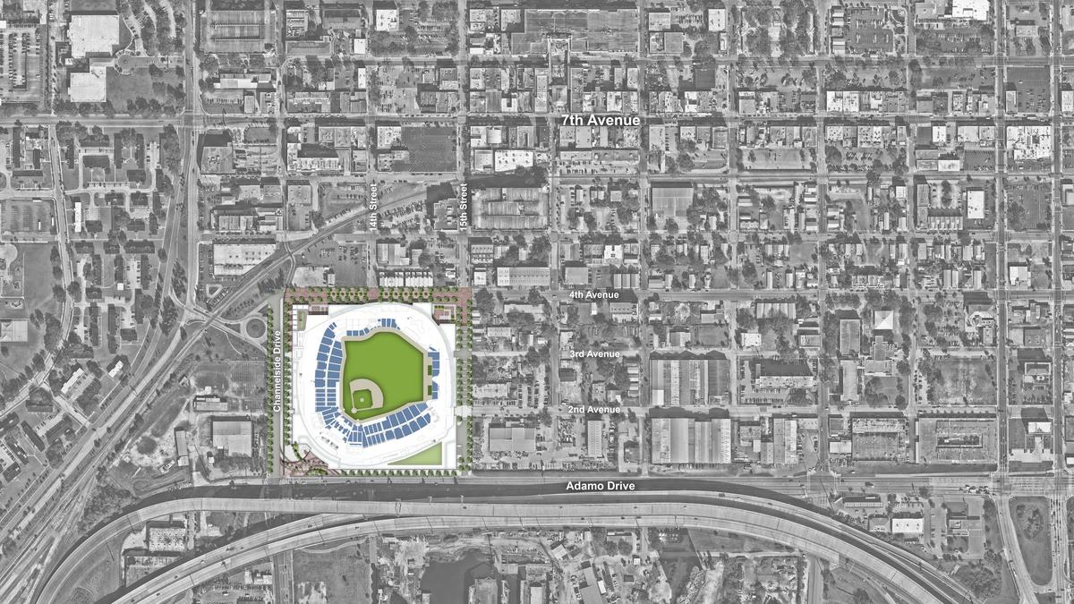 tampa bay rays unveil translucent roof design for ybor stadium renderings tampa bay business journal tampa bay rays unveil translucent roof