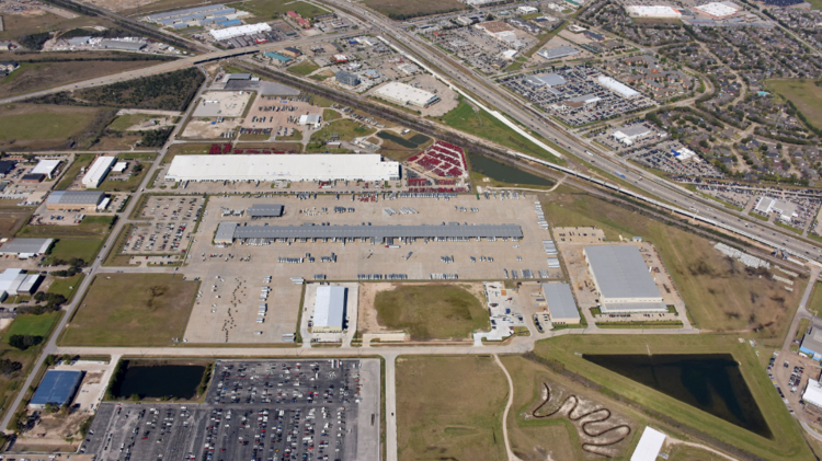 An aerial view of Satsuma Station Industrial Park, a 115-acre industrial park in northwest Houston.