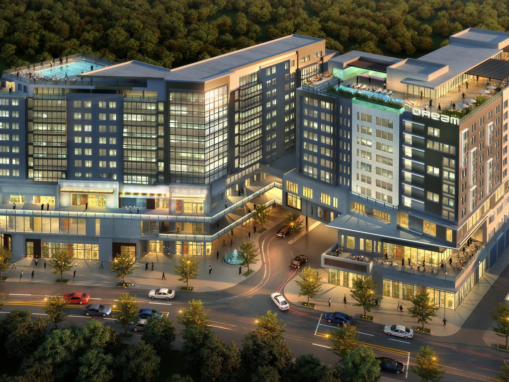 A Rendering Of The Dream Atlanta Buckhead Hotel It S Planned For Ping Center That