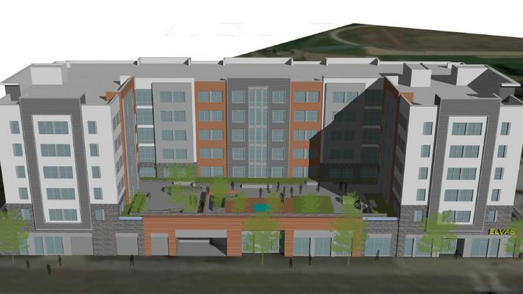 A Rendering Of The Planned Elvas Avenue Apartments