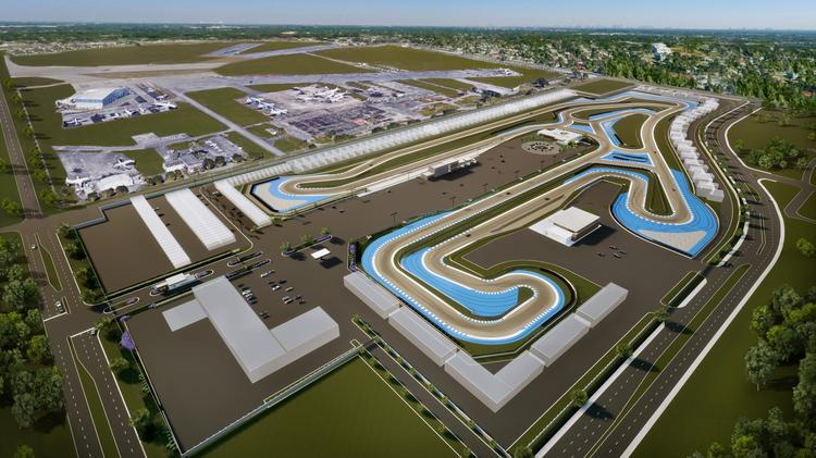 concours club race course under development at miami opa locka