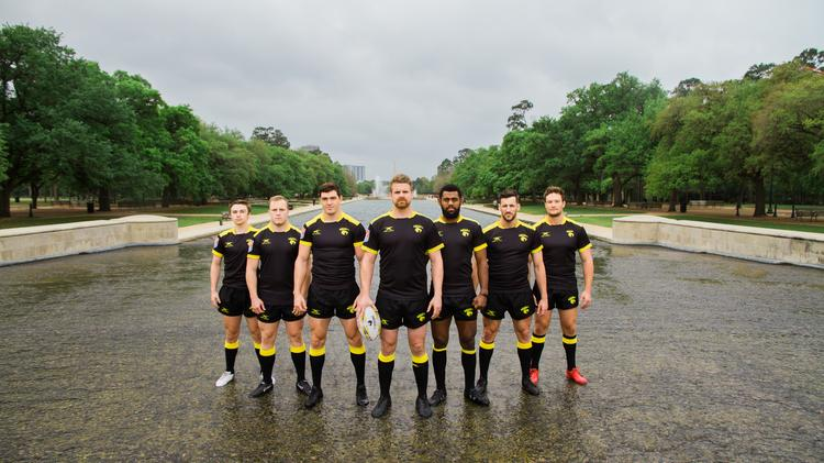 The Houston Sabercats Players From Left Kieran Farmer Lindsey Stevens Alex Elkins
