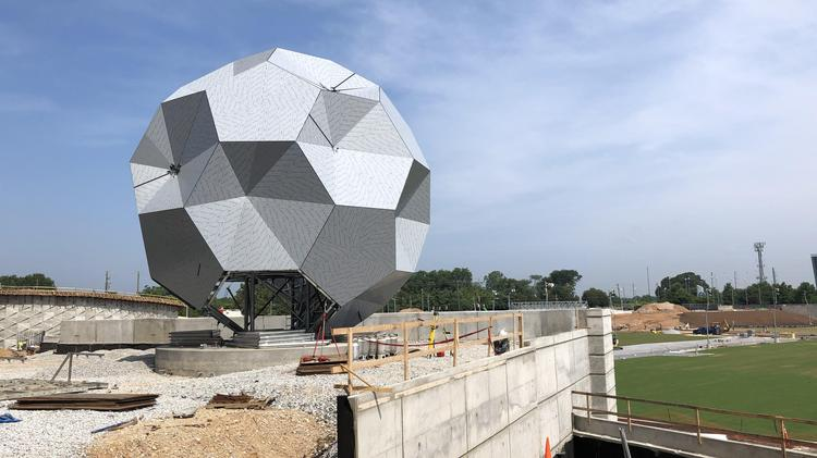 Mercedes Benz Stadium S 35 Foot Telstar Ball Almost Complete