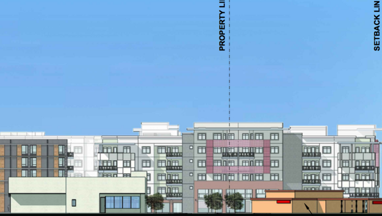 A preliminary elevation diagram shows the proposed development at Papago Plaza from the Scottsdale Road frontage.