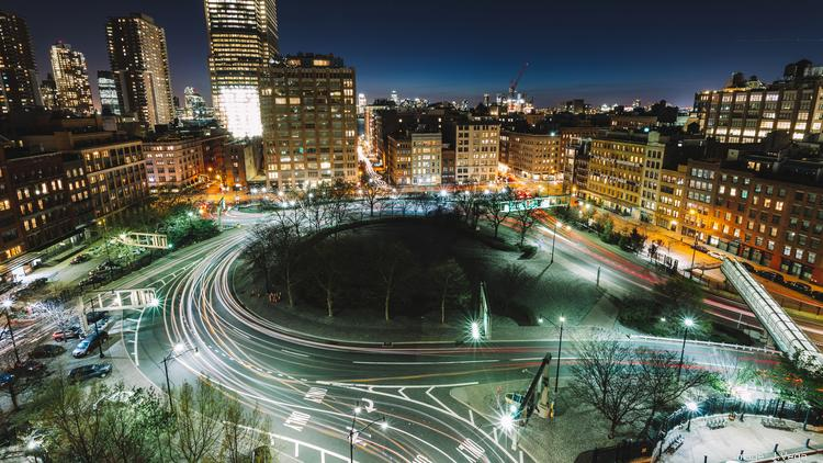 Long Exposure Overlooking Tribeca Traffic