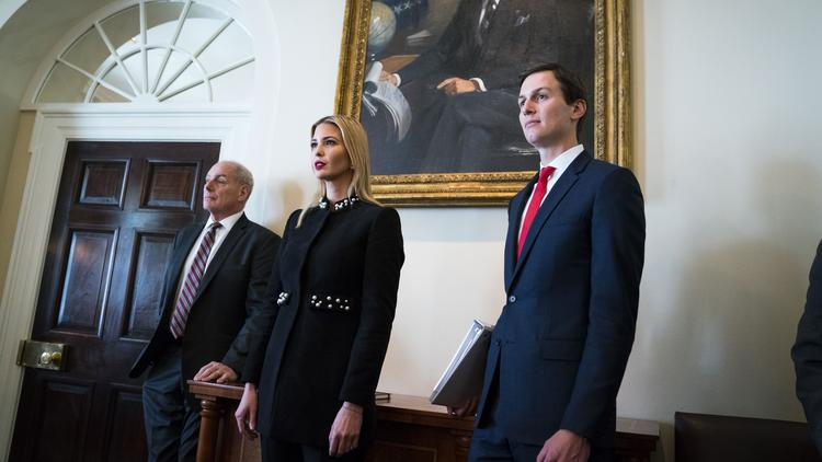 From Left White House Chief Of Staff John Kelly Ivanka Trump And