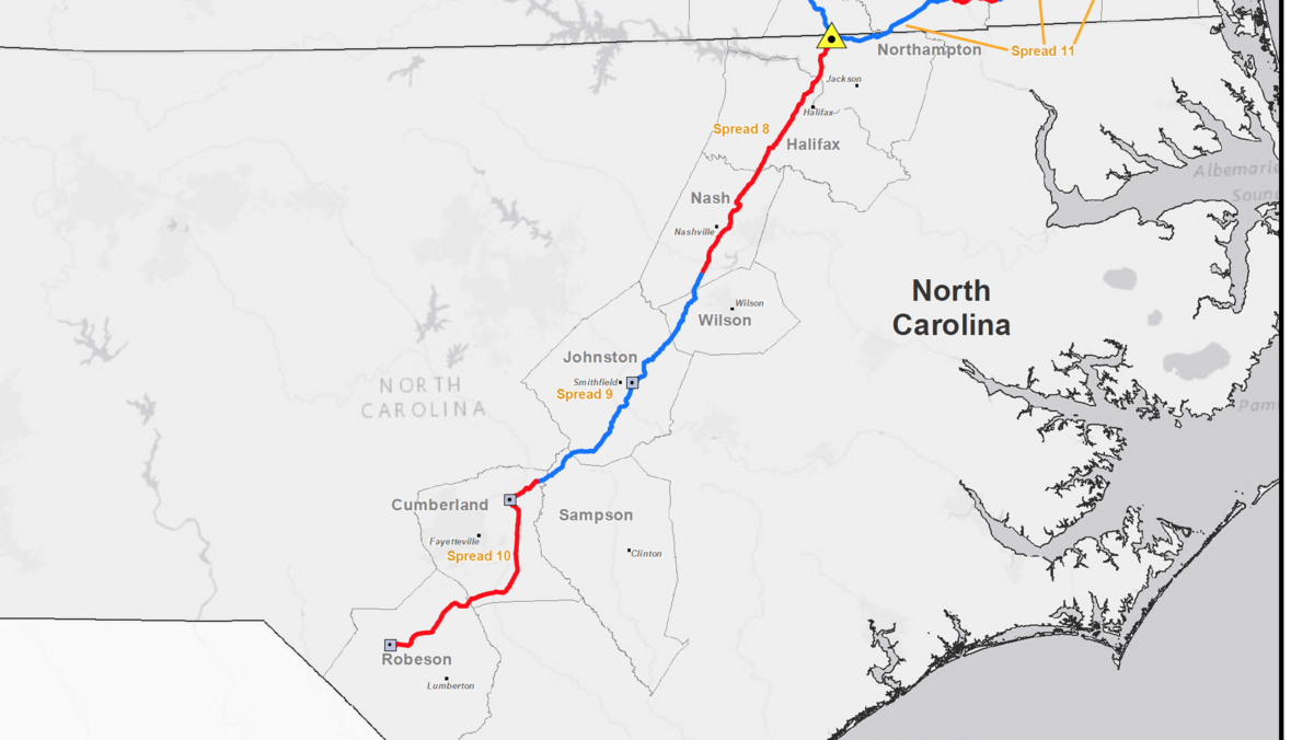Construction starting on Atlantic Coast Pipeline in North Carolina on map of lee county nc, map of harnett county nc, map of haywood county nc, map of gaston county nc, map of new hanover county nc, map of duplin county nc, map of halifax county nc, map of bertie county nc, map of lincoln county nc, map of wayne county nc, map of pitt county nc, map of person county nc, map of moore county nc, map of rockingham county nc, map of forsyth county nc, map of vance county nc, map of jackson county nc, map of washington county nc, map of alexander county nc, map of henderson county nc,