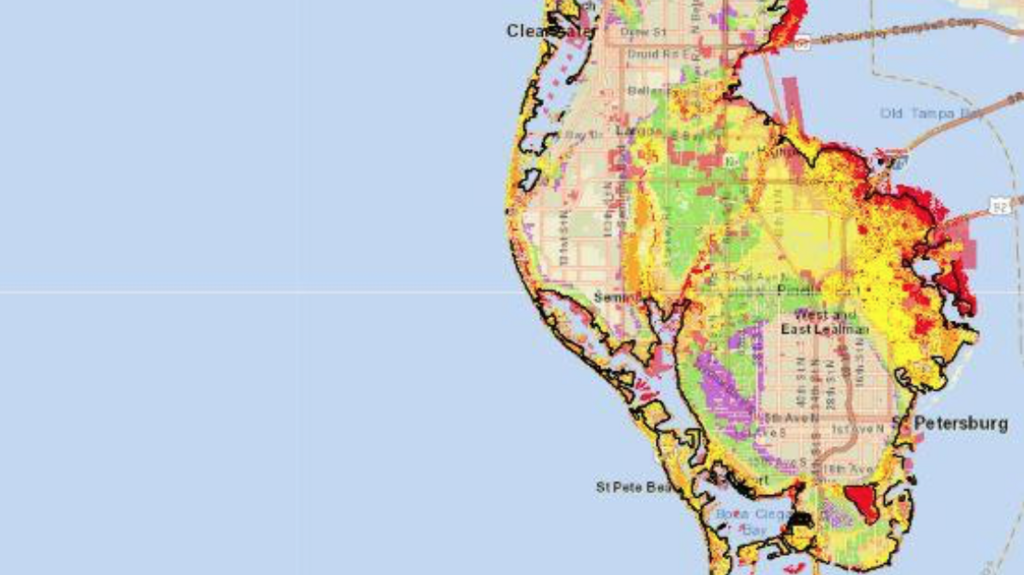 Pinellas County Flood Zone Map Updated flood map of Pinellas County, from FEMA   Tampa Bay