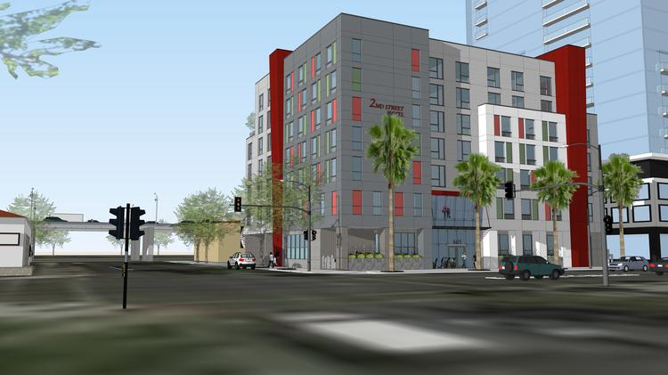 A Rendering Of The Second Street Hotel At 605 S St In Downtown