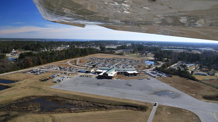 A look at the apron being expanded and rehabilitated at Coastal Carolina Regional.