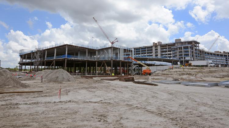New York-based KPMG LLP is making progress on its $430 million, 55-acre training center in Lake Nona.