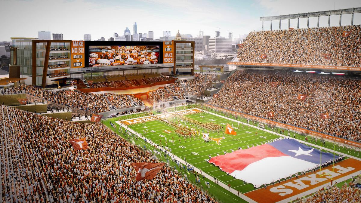 first look longhorn football stadium to get more club suites with 175m expansion austin. Black Bedroom Furniture Sets. Home Design Ideas