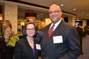 Rose Garvin Aquilino, left, from Montgomery College, and Brian Dorsey from MassMutual Greater Washington at the 2013 Minority Business Leader Awards.
