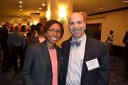 From Johns Hopkins Community Physicians, honoree Jenel Wyatt, regional medical director, and Steve Kravet, president, at the 2013 Minority Business Leader Awards.