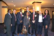 Honoree Jenel Wyatt, center, regional medical director at Johns Hopkins Community Physicians, with her team at the 2013 Minority Business Leader Awards.