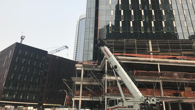 Construction Strike Halts Work On Amazon Wright Runstad Towers In