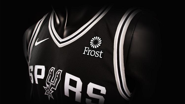 d4305f56d87 Frost Bank has struck a multiyear deal to become the San Antonio Spurs  first  jersey