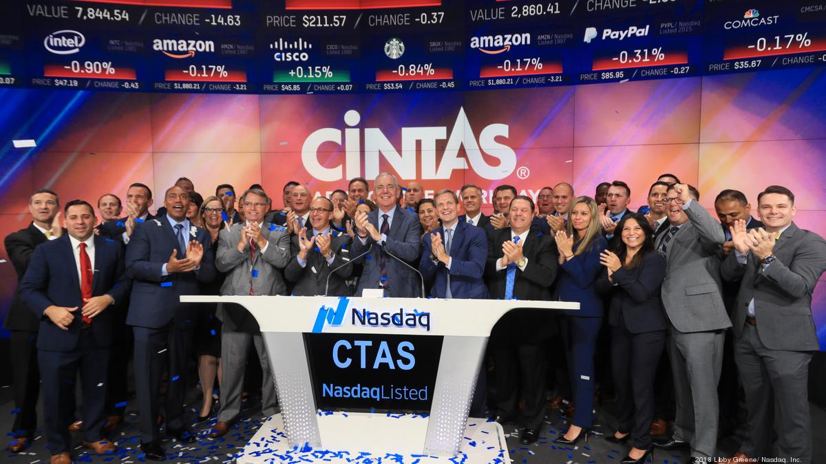 Cintas CEO talks Nasdaq bell - Cincinnati Business Courier
