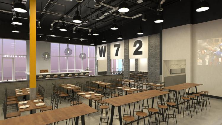 Spaghetti Warehouse Restaurants Inc. will open a new concept dubbed Warehouse 72 at the Marq'E Entertainment Center.