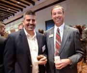 Terry Montville of Empire Office and Lyn Patrick of Floria Business Interiors.