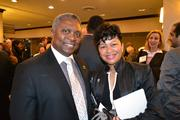 Theo Bell, of EpicConsulting, with Carolyn Howell of Fun Company Events at the 2013 Minority Business Leader Awards.