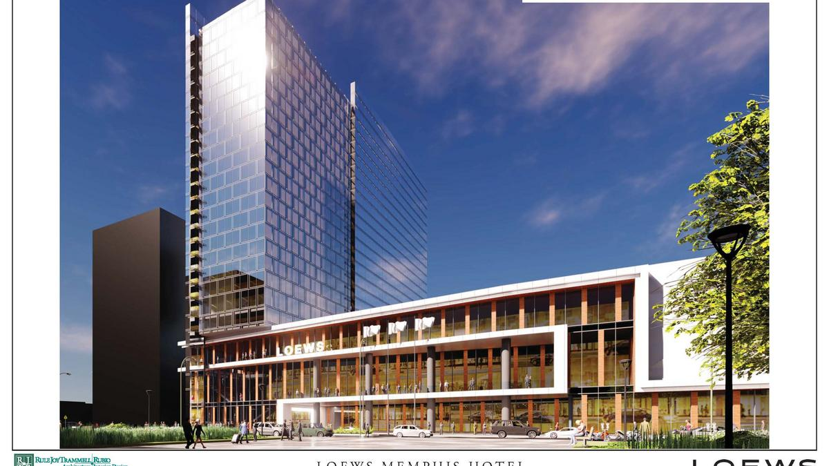 loews hotels releases preliminary renderings for downtown memphis