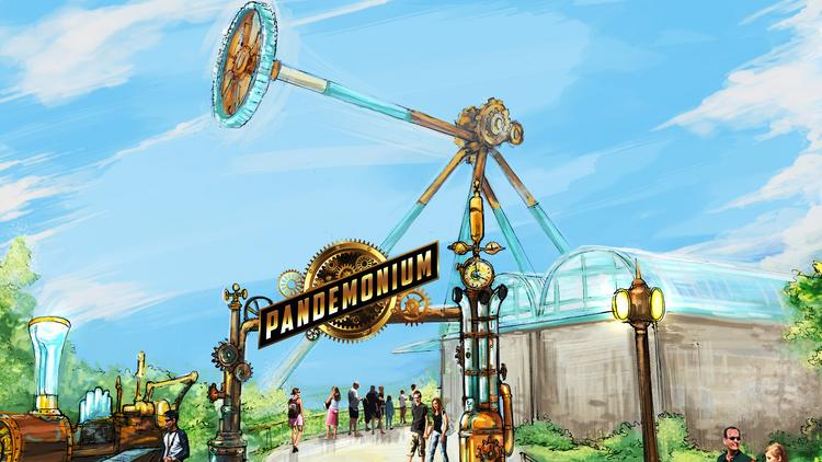 Pandemonium Will Be 15 Stories Tall And Reach S Ds Of 70 Miles Per Hour