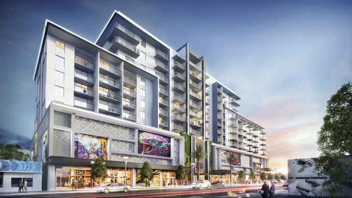 Lennar Corp.'s Wynwood Green apartments would be developed on the site currently occupied by Wynwood Art, O Cinema and Art Miami.