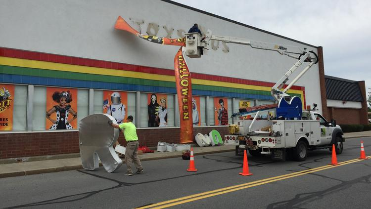 the former toys r us in clifton park opened sunday as spirit halloween a temporary