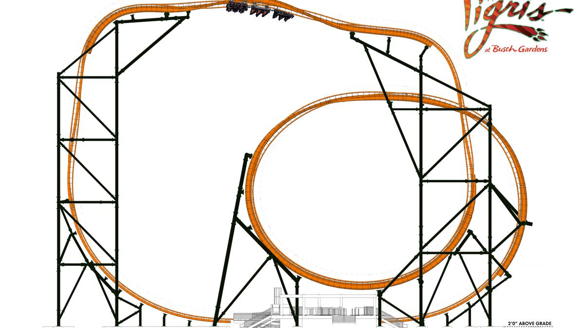 Seaworlds Busch Gardens Tampa Confirms Its Building Tigris New Rollercoaster Diagram Tiger Themed Roller Coaster Video Bay Business Journal