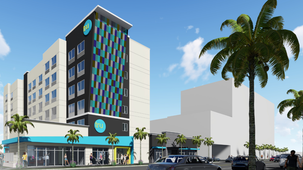 Ad1 Global Breaks Ground On Tru By Hilton Hotel In Dania Beach South Florida Business Journal