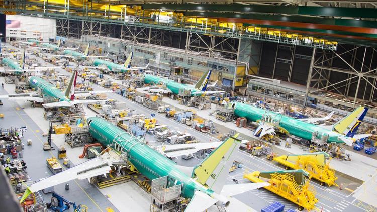 Resultado de imagen para Boeing 737 MAX lineup Renton