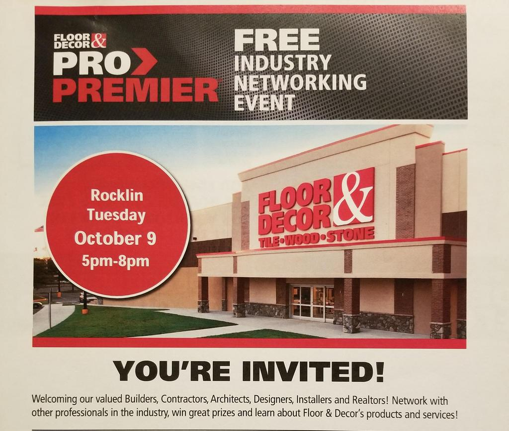 Floor And Decor S Networking Night October 9th 5pm To 8pm