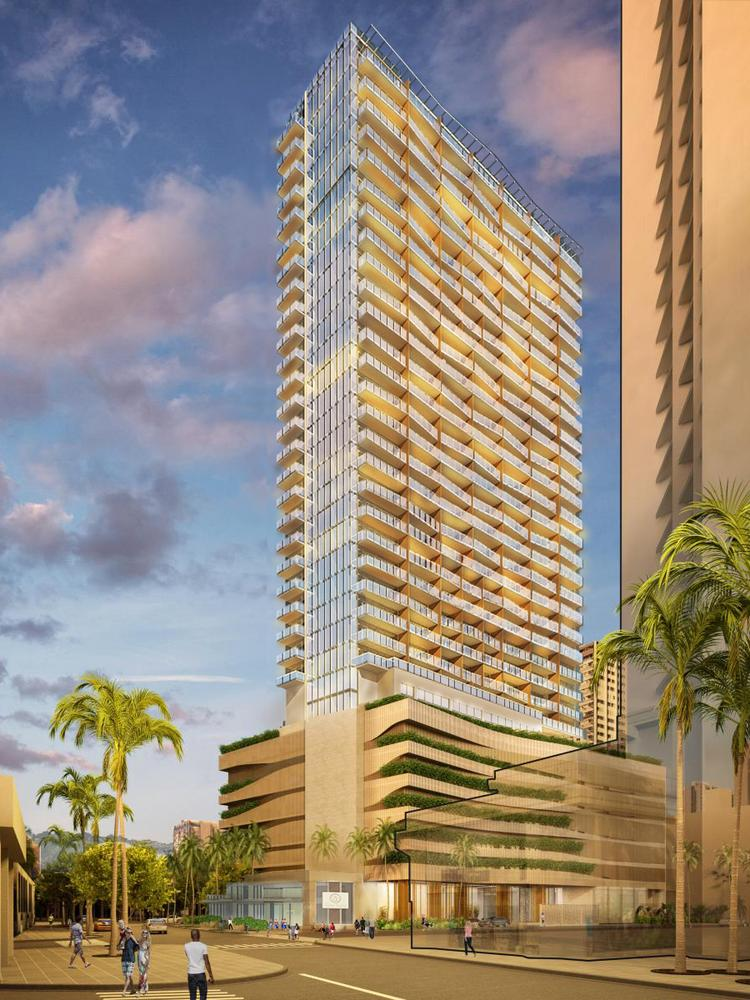 This Rendering Shows The 32 Story 191 Unit Time Share Tower Hilton