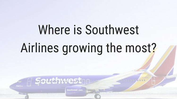 Southwest Airlines is growing the fastest at these airports