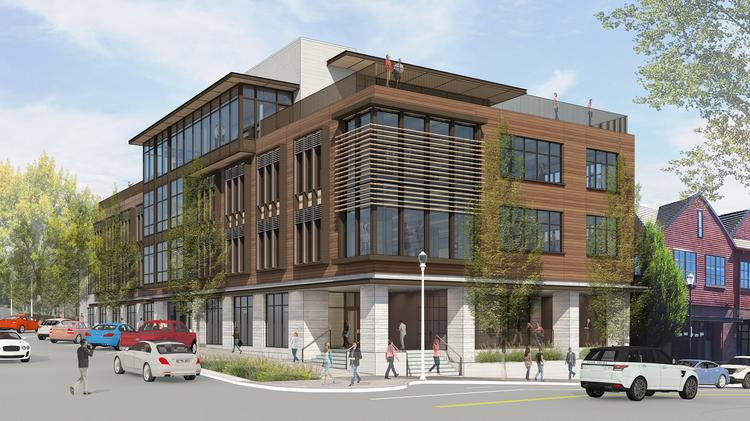ad2cf37b Beacon Lake Oswego is a new mixed-use building currently under  construction. When complete