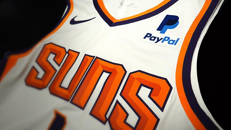 reputable site 2bdb8 bc4c3 PayPal to advertise on Phoenix Suns jerseys - Phoenix ...