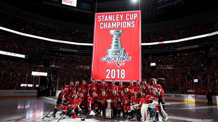 newest a8f2b 95d31 Ted Leonsis on the Caps raising their Stanley Cup banner ...