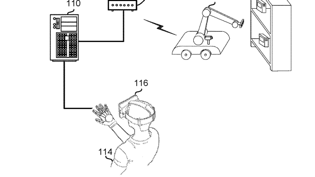 Amazon envisions virtual reality-operated robots in its