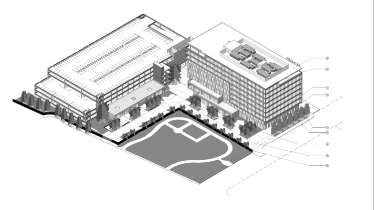 Hudson Pacific Properties Has Proposed A Nine Story Office Building And A  Five Story
