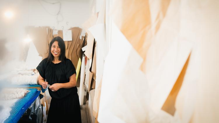 How Fashion Designer Celeste Malvar Stewart Creates A Sustainable Couture Brand Malvar Stewart In Columbus Ohio Columbus Business First