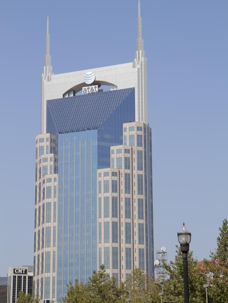 The AT&T Tower is known as the Batman Building, for its iconic twin spires.