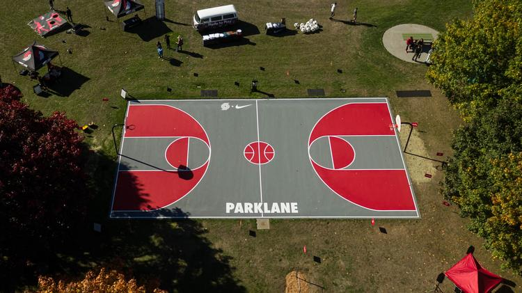 check out c1827 a5d43 Nike, Trail Blazers start $1 million basketball court ...