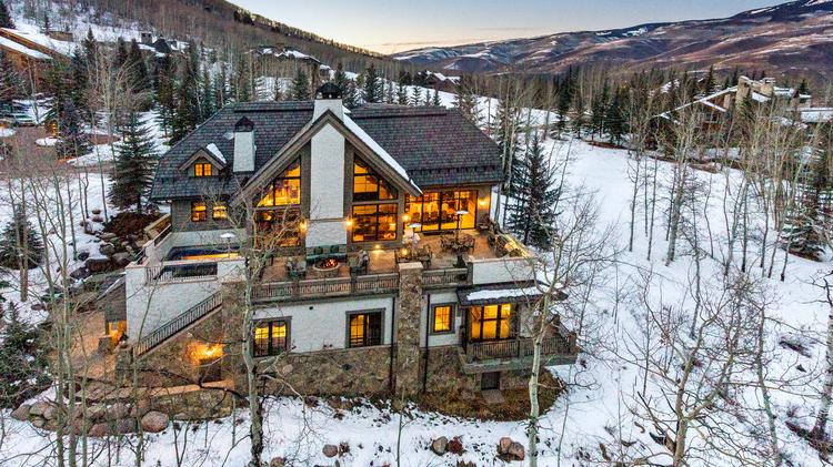 This Beaver Creek Home At 22 Strawberry Park Road Is Listed For $15.9  Million.