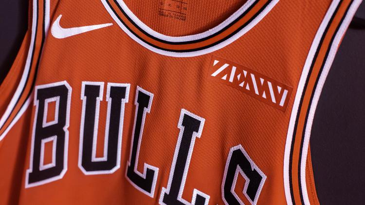 official photos 7375c 2c0fd Bulls ink first jersey patch deal with Zenni Optical ...