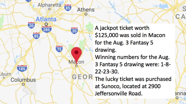 Here's where 10 winning Georgia Lottery jackpot tickets were