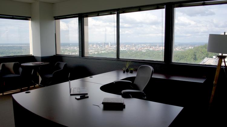 A View From Inside One Of The New Executive Office Space At The Tower.