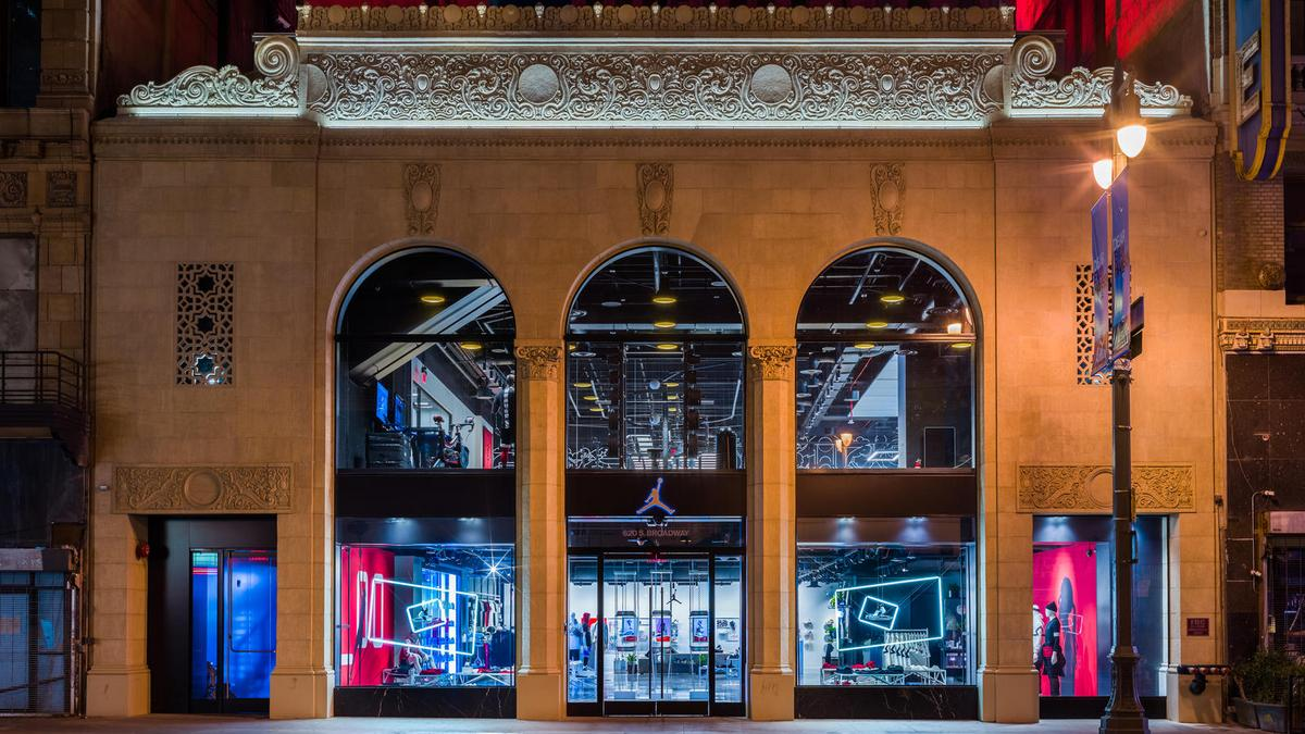 cf154bc38ce0 Nike opens next-generation Jordan store in Los Angeles (Photos ...