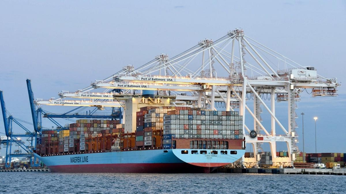 Port of Baltimore welcomes Gunde Maersk, the biggest ship to visit