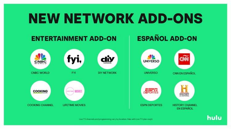 Hulu With Live Tv Adds Spanish Language Entertainment Tiers L A Biz
